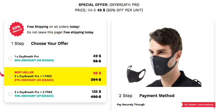 order OxyBreath Pro in Singapore