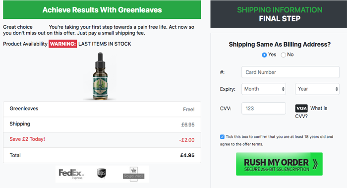 Green Leaves CBD price