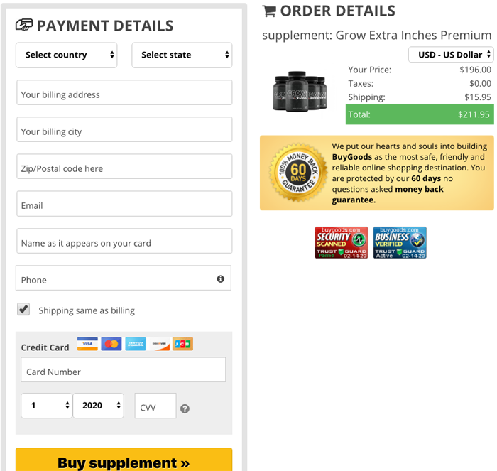 order Grow Extra Inches Supplement