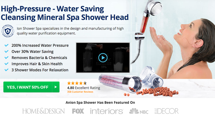 Order Ion Shower Spa