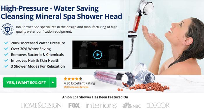 Order Ion Shower Spa