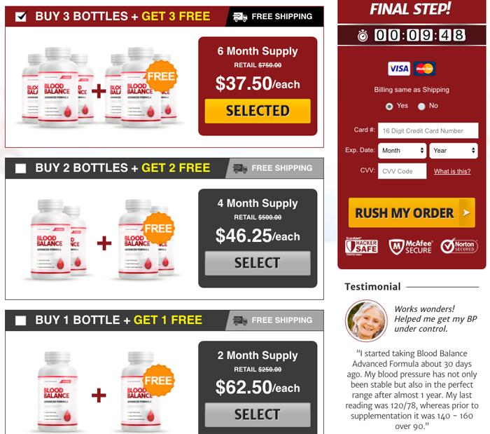 Blood Balance Advanced Formula Price