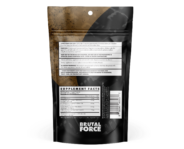 Brutal Force CCUT Ingredients