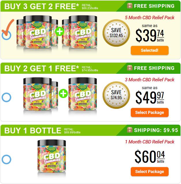 Smilz CBD Gummies Price